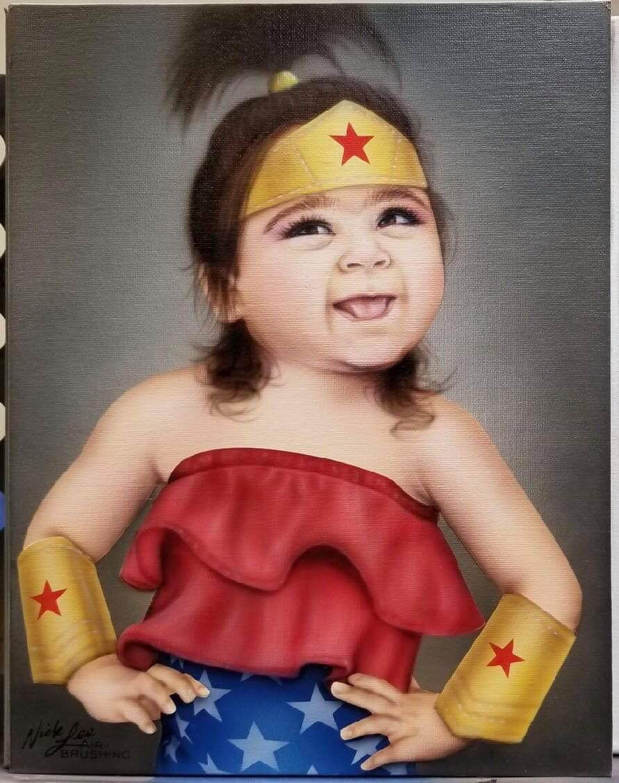 Ziya as a superhero
