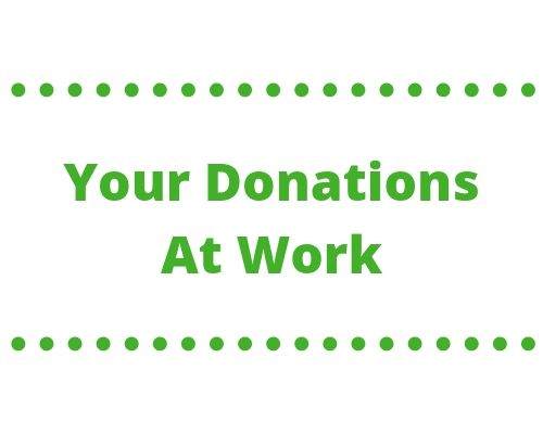 Your Donations at Work Banner